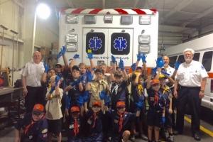 Boy Scouts visit